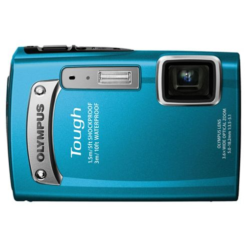 Olympus TG-320 Compact Digital Camera, Blue, 14MP, 3.6x Optical Zoom, 2.7 inch LCD Screen