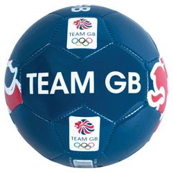London 2012 Olympics Team GB Blue Lion Football Size 5