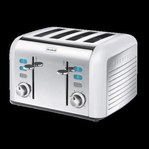 Breville Opula VTT334 4 Slice Toaster - Opal White