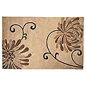 Tesco Rugs Chrysanthemum Rug Natural 150X240Cm