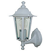 Tesco Lighting 6 Sided Wall Uplighter White
