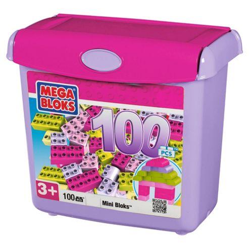 Mega Bloks 100 piece Mini Bloks Tub, Pink