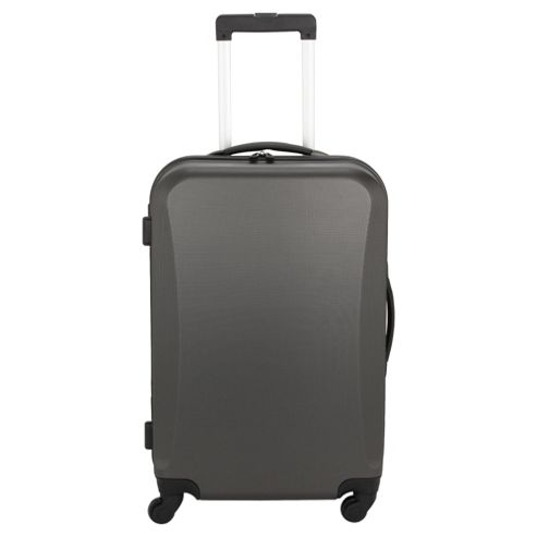 Tesco Hard Shell 4-Wheel Suitcase, Grey Medium