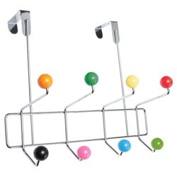 Multi Coloured Ball Overdoor Hooks