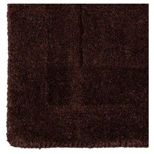 Tesco Plain Wool Runner 70 x 200cm, Chocolate