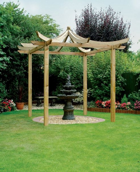 Ashcott Pergola - Includes Metcrete for fixing the posts into the ground