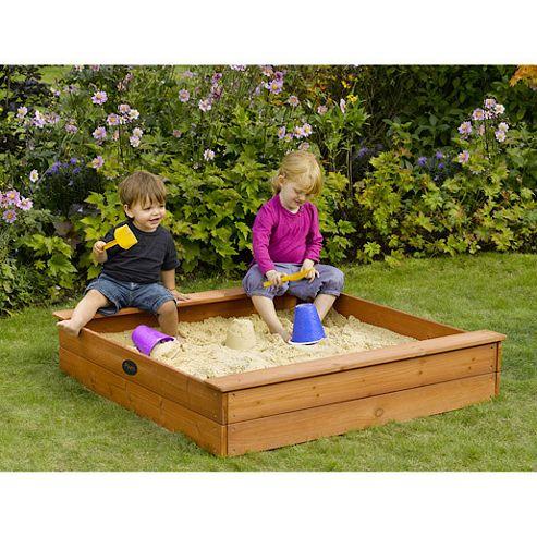 Plum Square Wooden Sandpit