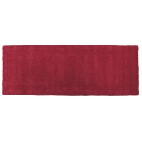Tesco Plain Wool Runner, Berry 70x200cm