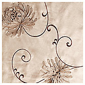 Tesco Chrysanthemum Lined Eyelet Curtains - Black & Cream