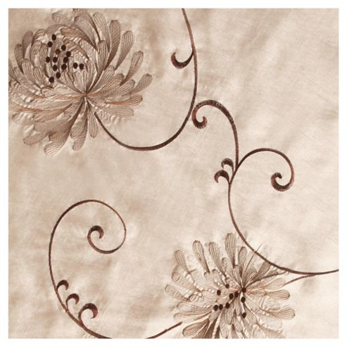 Tesco Chrysanthemum Lined Eyelet Curtains W163xL183cm (64x72