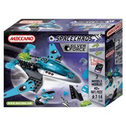 Meccano Space Chaos Silver Force Fighter