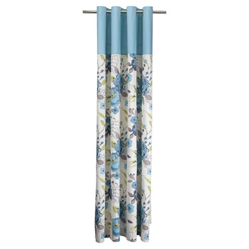 Tesco Jasmine Blossom Lined Eyelet Curtains W168xL183cm (66x72