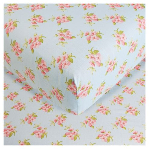 Patch Floral Double Fitted Sheet