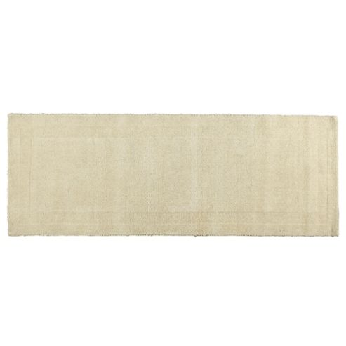 Tesco Plain Wool Runner, Cream 70x200cm