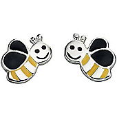 Girl's Bumble Bee Sterling Silver Earrings