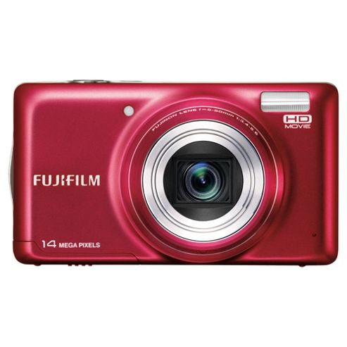 Fujifilm FinePix T350 Digital Camera, Red, 14MP, 10x Optical Zoom, 3.0 inch LCD screen