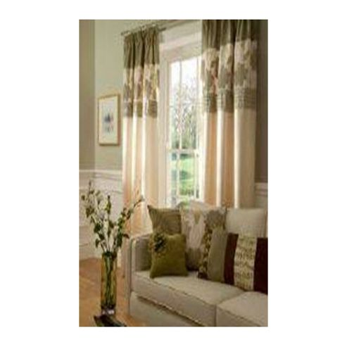 Catherine Lansfield Clarissa Lined Pencil Pleat Curtains W168xL183cm (66x72