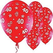 11' Birthday Perfection 40 Red (25pk)
