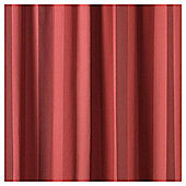 "Tesco Hampton Stripe Pencil Pleat Unlined Curtains W167xL183cm (66x72""), Red"
