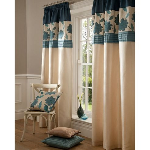 Catherine Lansfield Clarissa Lined Pencil Pleat Curtains W229xL229cm (90x90
