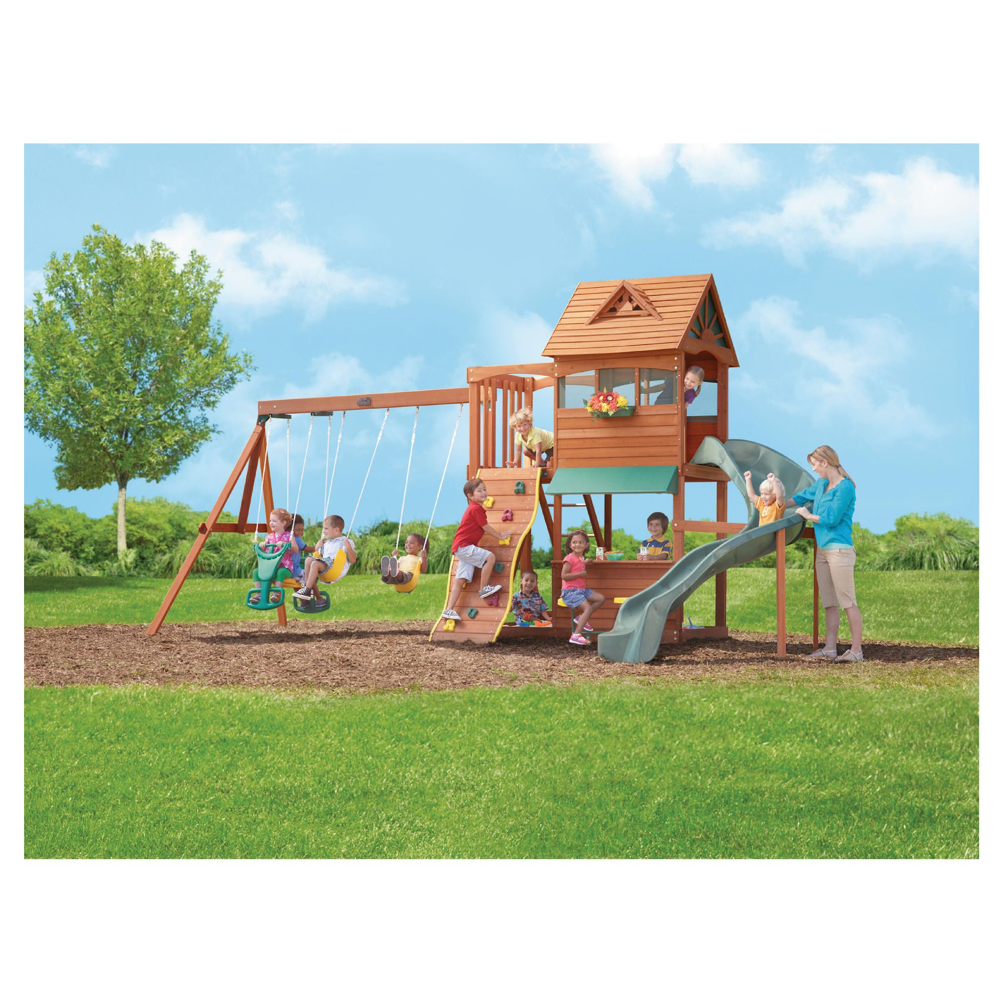 Selwood Stonybrook Lodge Playset at Tesco Direct