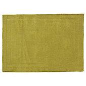 Tesco Rugs Plain Wool Rug 160 x 230cm, Green