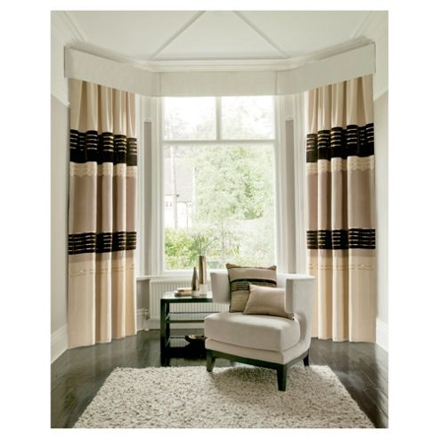Catherine Lansfield Sequin Bands Lined Pencil Pleat Curtains W168xL183cm (66x72