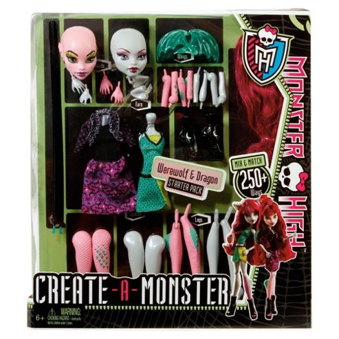 Monster High Create A Monster Starter Pack Werewolf / Dragon
