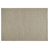 Tesco Rugs Textured Flatweave Rug Natural 120X170Cm