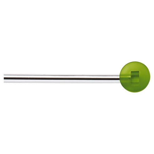 Extendable Curtain Pole With Lollipop Finial, L180-330cm, Green