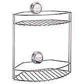 Croydex Stick N Lock Two Tier Basket