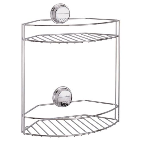 Croydex Stick N Lock Two Tier Shower Basket