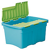 54L Croc Box    Blue/Lime Green