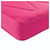 Airsprung Single Mattress - Essentials Kids Waterproof Anti Dust, Pink