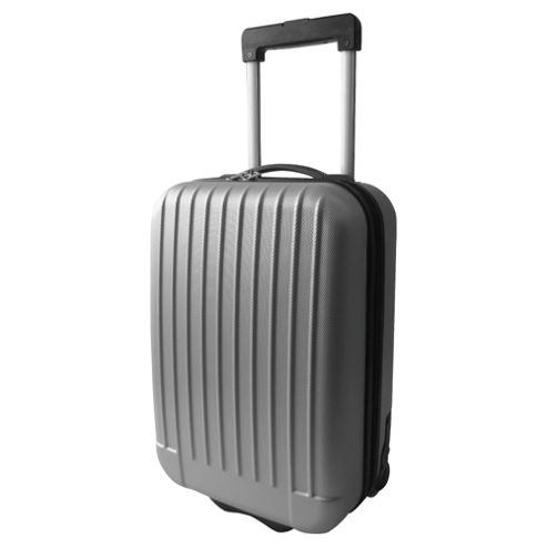 Tesco 2-Wheel Hard Shell Suitcase, Grey Medium