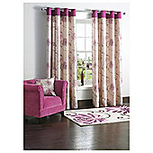 "Tesco Chrysanthemum Lined Eyelet Curtains W162xL137cm (64x54""), Plum"