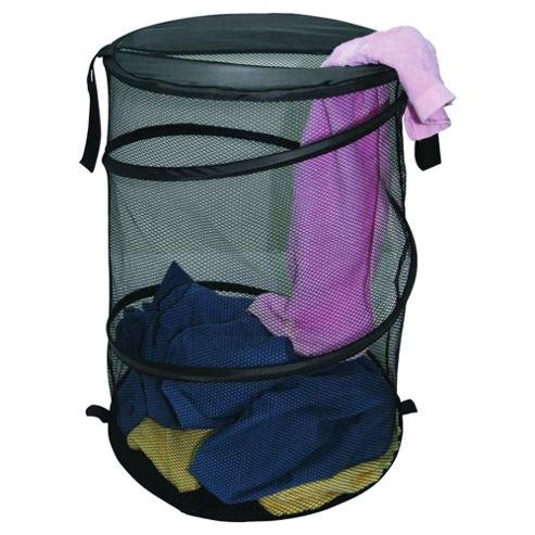 Tesco Pop-Up Laundry Bin, Black