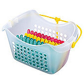 Tesco Peg Basket + 36 Pegs Plastic