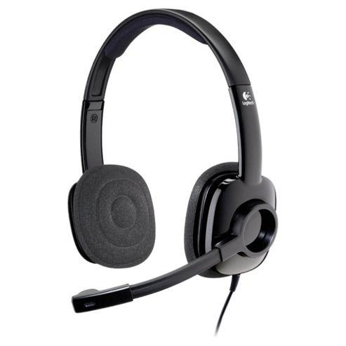 Logitech H250 Stereo 3.5mm Overhead PC Headset & Microphone