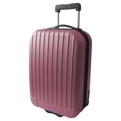Tesco 2-Wheel Hard Shell Suitcase, Pink Medium