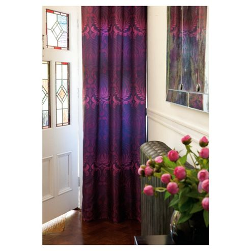 Catherine Lansfield Deco Lined Eyelet Curtains W168xL183cm (66x72