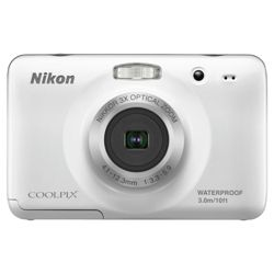 Nikon S30 Waterproof Digital Camera - White