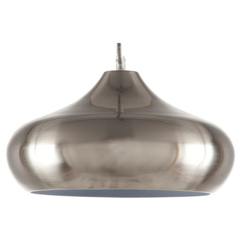 Tesco Lighting Manhattan Spun Metal Pendant Ceiling Light, Satin Nickel