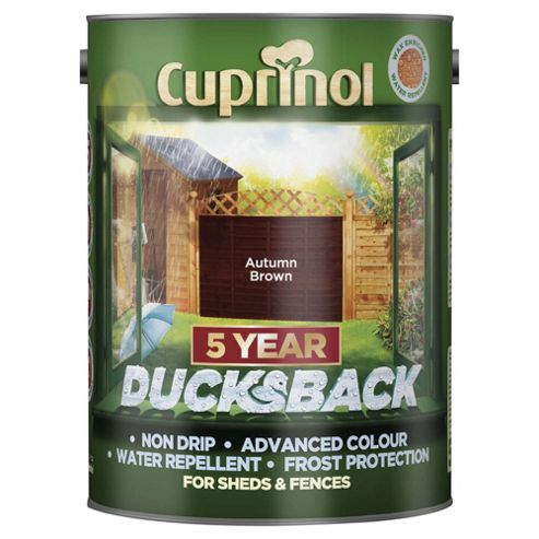 Cuprinol Ducksback, 5L, Autumn Brown