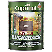 Cuprinol Ducksback, 5L, Harvest Brown