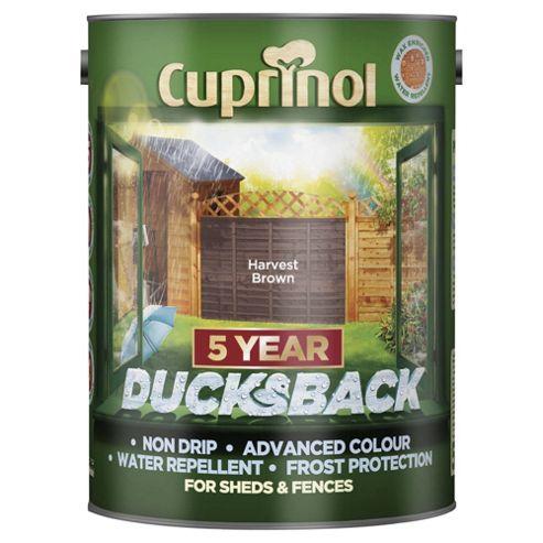 Cuprinol Ducksback, 5L, Harvest Brown