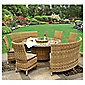 Royalcraft Mirage Fan Bench Set 8/10 Seat Set Natural Weave Effect