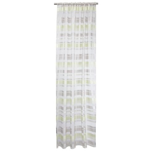 Milan Stripe Voile Panel Curtains W137xL229cm (54x90
