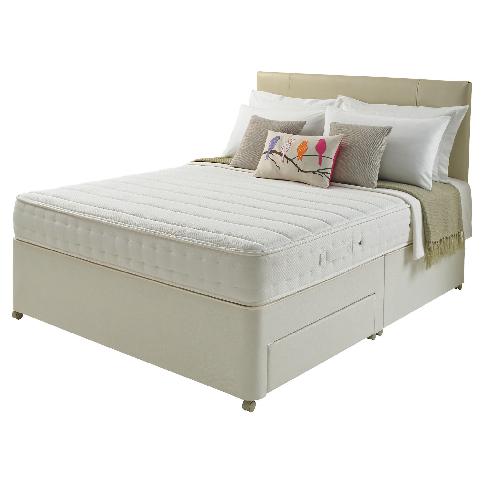 Rest Assured Royal Memory 1000 Double 2 Drawer Divan Bed at Tesco Direct
