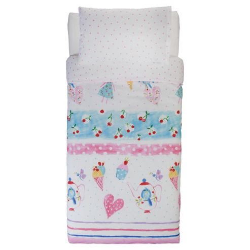 Tea Party Single Duvet Set